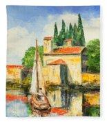 Italy - San Vigilio Fleece Blanket