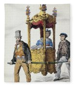 Italy Sedan Chair Fleece Blanket