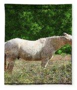 Itchy Horse Fleece Blanket