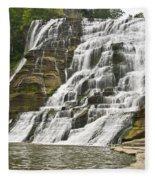 Ithaca Falls Fleece Blanket