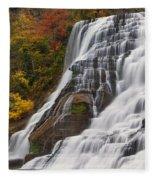 Ithaca Falls In Autumn Fleece Blanket