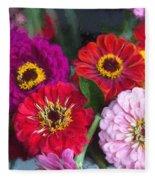 Farmer's Market Flowers II Fleece Blanket