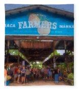 Ithaca Farmer's Market Fleece Blanket