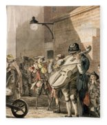Itinerant Musicians Playing In A Poor Fleece Blanket