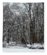 Its A Beautiful Winter Fleece Blanket