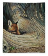 Fox - It's A Big World Out There Fleece Blanket