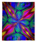 It's A Rainbow World Fleece Blanket