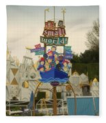 Its A Small World Fantasyland Signage Disneyland Fleece Blanket