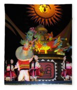 It's A Small World With Dancing Mexican Character Fleece Blanket