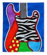 It's Electric Acrylic By Diana Sainz Fleece Blanket