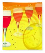 Its Five O'clock Somewhere Fleece Blanket