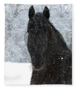 It's Friesian Out Here Fleece Blanket