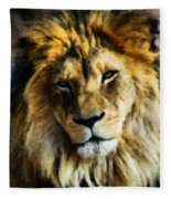 Its Good To Be King Portrait Illustration Fleece Blanket