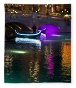 It's Not Venice - Brilliant Lights Glamorous Gondolas And The Magic Of Las Vegas At Night Fleece Blanket