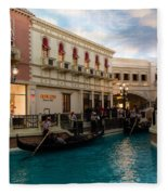It's Not Venice - Gondoliers On The Grand Canal Fleece Blanket