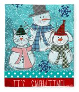 It's Snowtime Fleece Blanket
