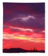 Vivid Sunset Fleece Blanket