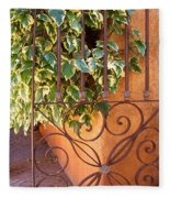 Ivy And Old Iron Gate Fleece Blanket