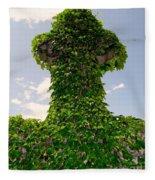 Ivy Covered Cross Fleece Blanket