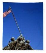 Iwo Jima Memorial At Arlington National Fleece Blanket
