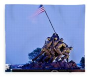 Iwo Jima Memorial At Dusk Fleece Blanket