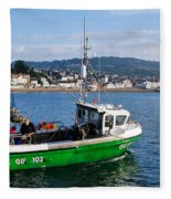 J B P Leaving The Harbour Fleece Blanket