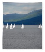 J Boats Lake George N Y Fleece Blanket