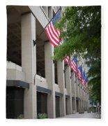 J Edgar Hioover Fbi Building Fleece Blanket