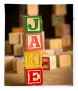 Jake - Alphabet Blocks Fleece Blanket