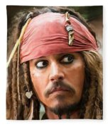 Jack Sparrow Fleece Blanket
