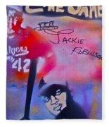 Jackie Robinson Red Fleece Blanket