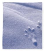 Jackrabbit Tracks In Snow Fleece Blanket