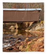 Jacks Creek Bridge Over Smith River Fleece Blanket