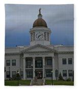 Jackson County Courthouse North Carolina Fleece Blanket