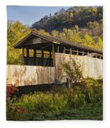 Jackson Mill Covered Bridge Fleece Blanket