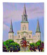 Jackson Square In The French Quarter Fleece Blanket