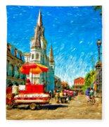 Jackson Square Painted Version Fleece Blanket