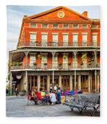 Jackson Square Reading Fleece Blanket