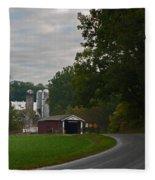 Jackson's Sawmill Covered Bridge Fleece Blanket