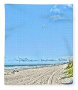 Jacksonville Fl Beach Fleece Blanket