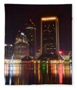 Jacksonville Night Fleece Blanket