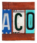 Jacob License Plate Name Sign Fun Kid Room Decor. Fleece Blanket