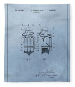 Jacques Cousteau Diving Suit Patent Fleece Blanket