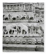 Jagdish Temple Sculpture Fleece Blanket