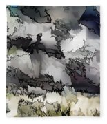 Jagged And Flowing Fleece Blanket