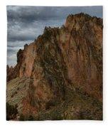 Jagged Peaks At Smith Rock Fleece Blanket