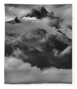 Jagged Peaks Glaciers And Storms Fleece Blanket
