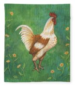 Jagger The Rooster Fleece Blanket