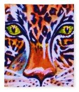 Jaguar Eyes-  Fleece Blanket