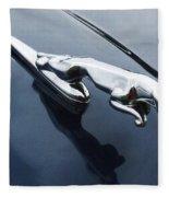 Jaguar Hood Ornament Fleece Blanket